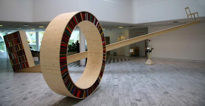 Bookshelf Designs Circular bookshelf