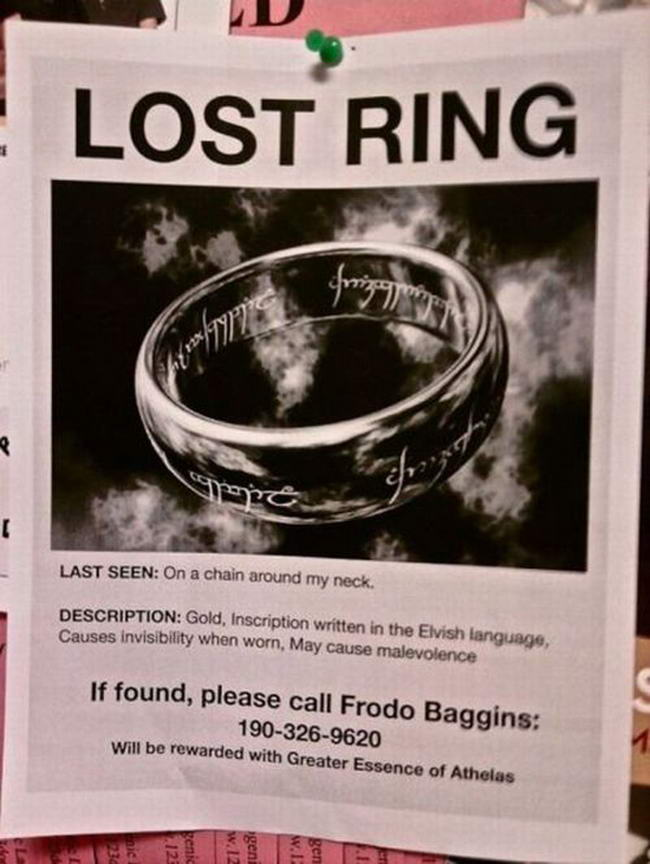 Lost Ring  Make Missing Poster