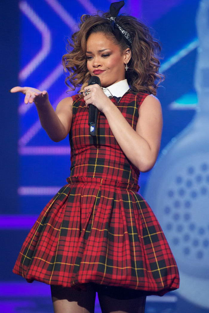 Tartan Dress - Rihanna