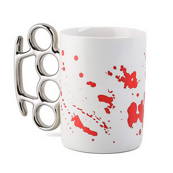 Blood Spatter Knuckle Mug