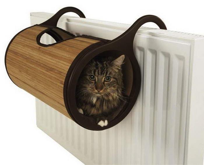 Bamboo Cat Radiator Bed