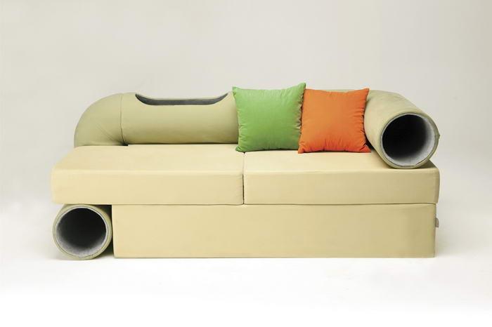 Cat Tunnel Sofa (1)