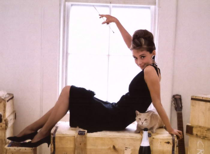 Audrey Hepburn in Black Dress