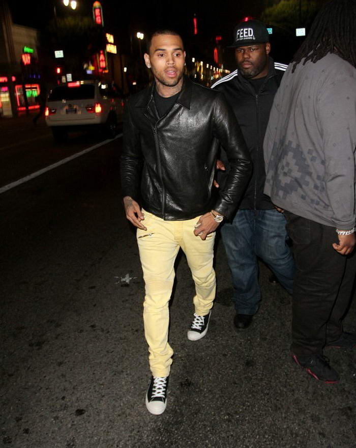 Chris Brown wearing Converse