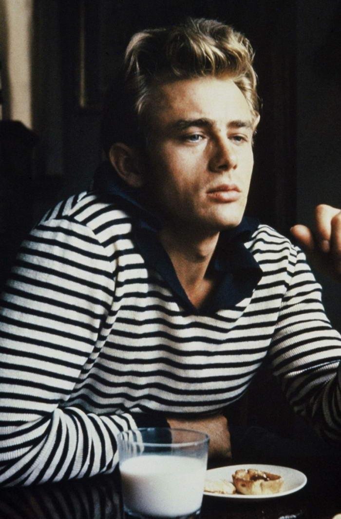 James Dean in Breton Stripes