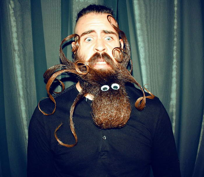 Most Epic Beard Sculptures By Mr Incredibeard - Guy shapes beard fun creative designs