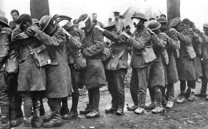 British 55th Division gas