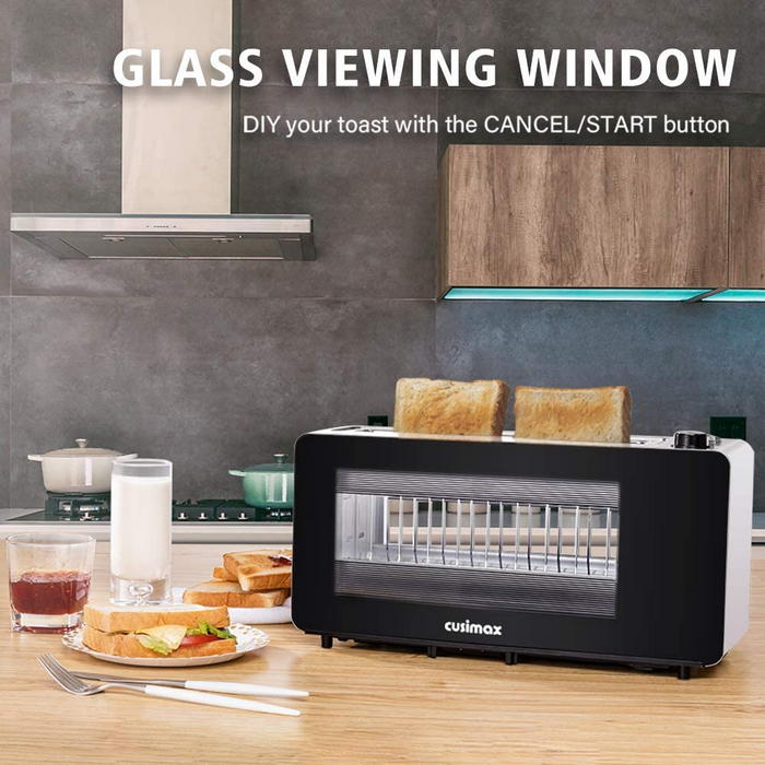 CUSIMAX Glass Toaster