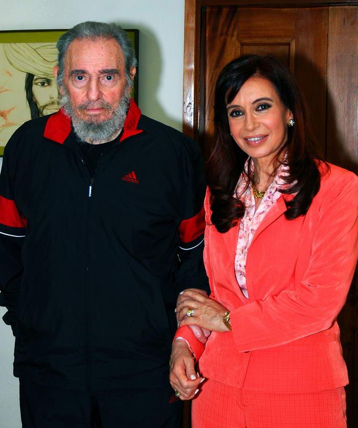 Fidel Castro y Cristina Fernandez de Kirchner