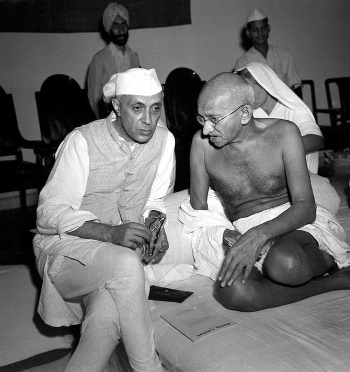 Gandhi and Nehru 1942
