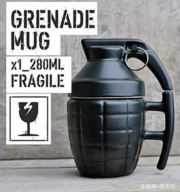 Grenade Shape Design Cup Coffee Mug
