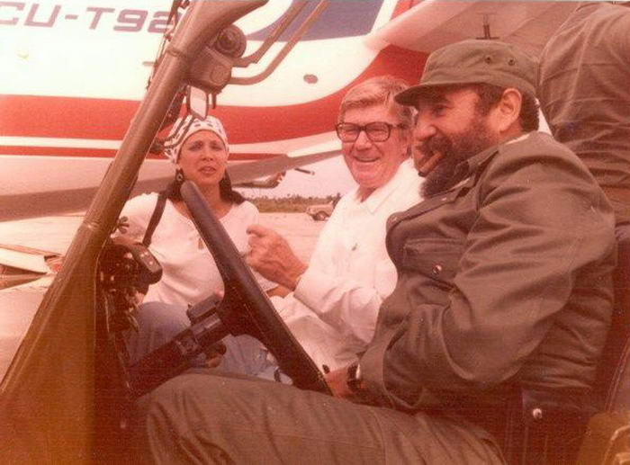 J Paul Austin and Fidel Castro in Cuba