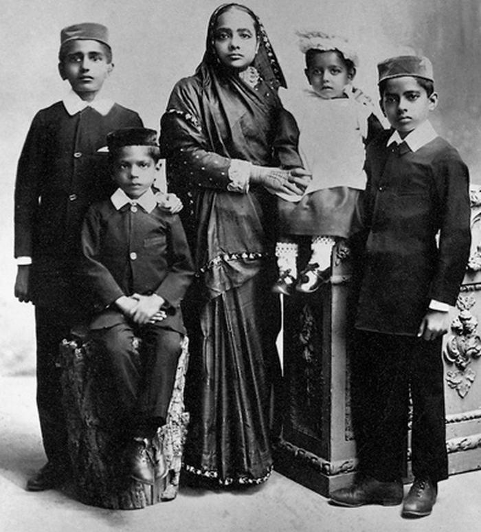 Kasturba and children