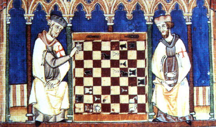 Knights Templar playing Chess