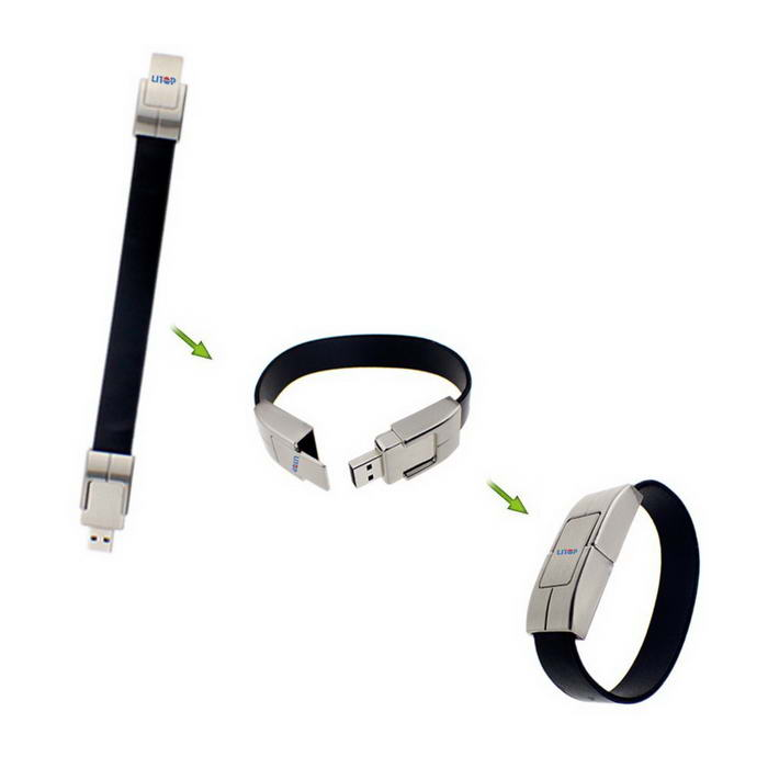 Leather Wrist Band Shape USB Flash Drive