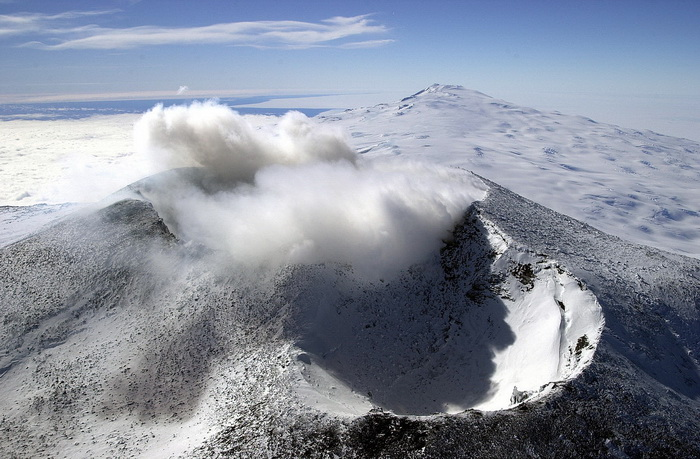 Mount Erebus craters