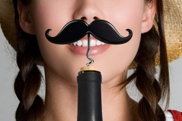 Mustache Corkscrew Bottle Opener