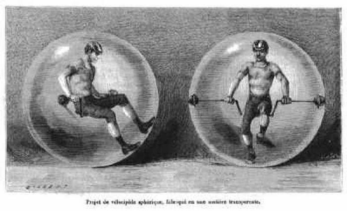 Spherical velocipede