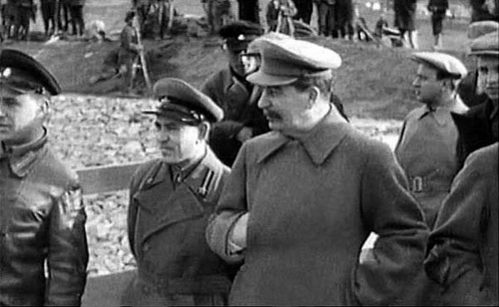 Stalin on building of Volga canal