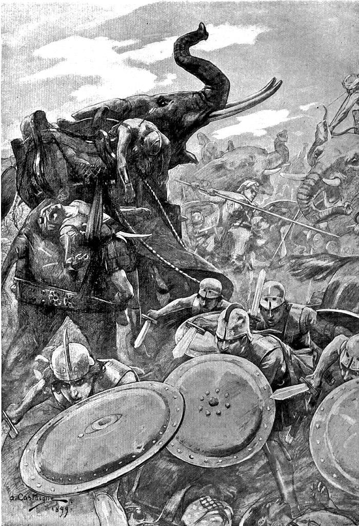 The phalanx attacking