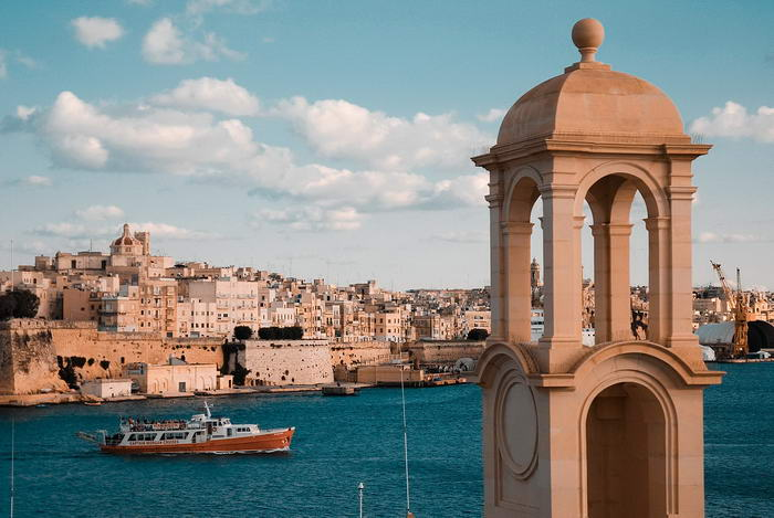 View of the Old Walled City of Valletta