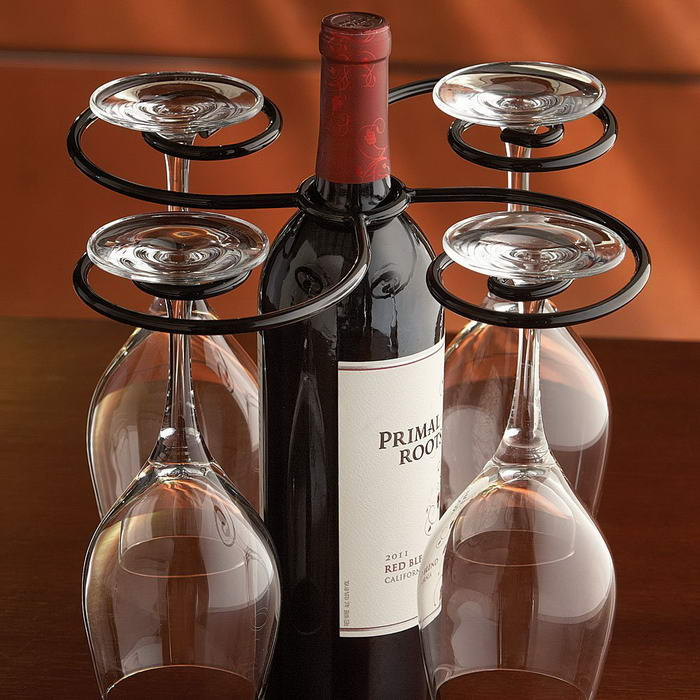 Wine Bottle Glasses Holder