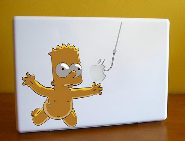 Bart Simpson Macbook Sticker