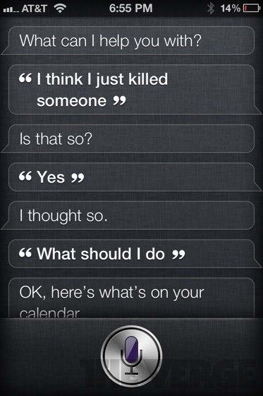 I just killed someone - Siri