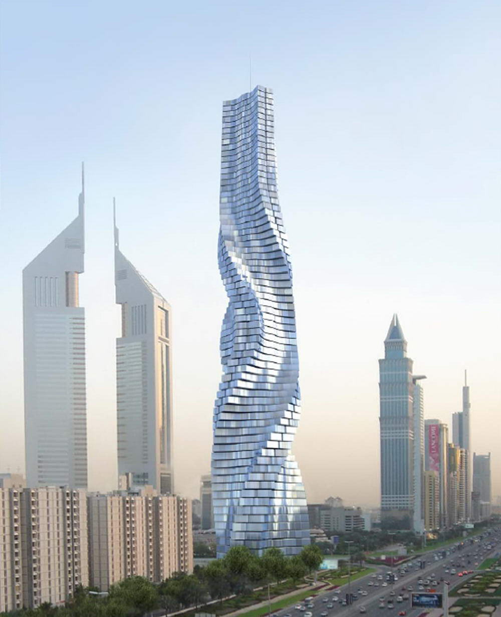 Creative Buildings Rotating Tower