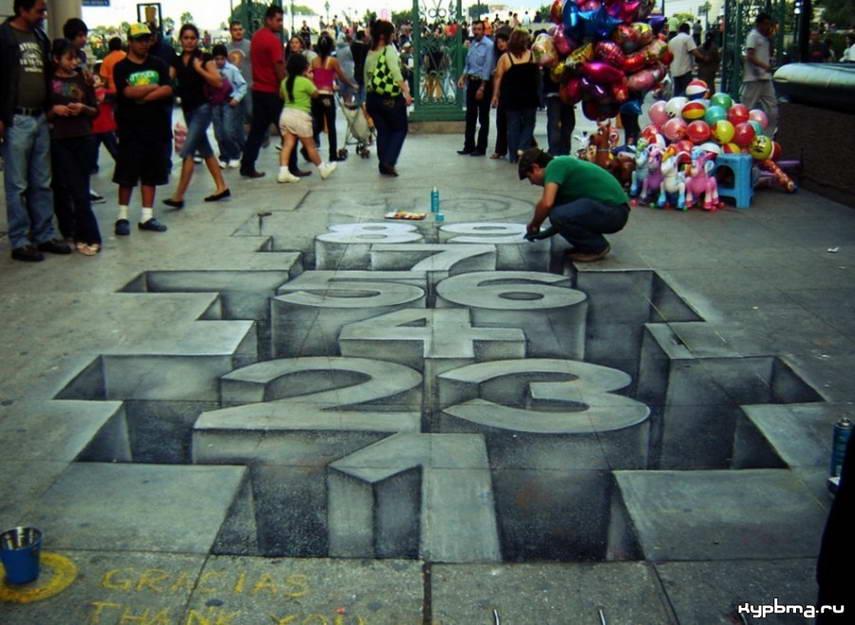 Sidewalk Art Numbers