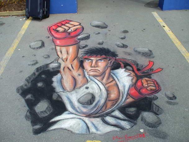 Sidewalk Art Ryu