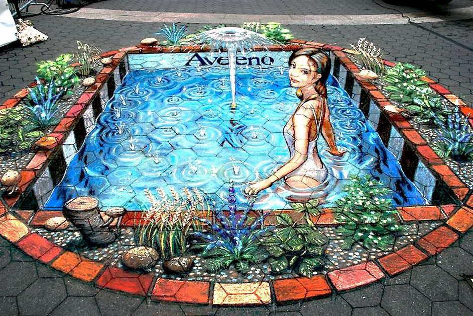 Sidewalk Art Swimming Pool