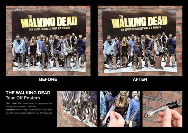 Walking Dead Creative Tear-Off Ads