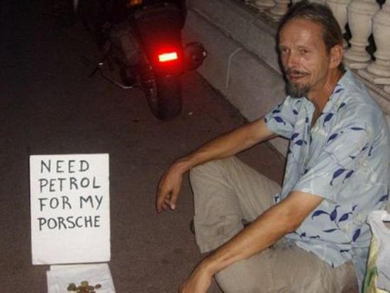 Homeless Porshe
