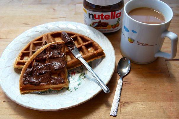 Nutella On Waffle