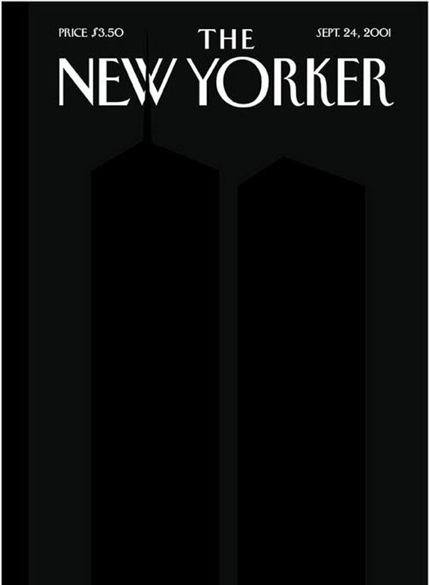 Twin Towers in Silhouette
