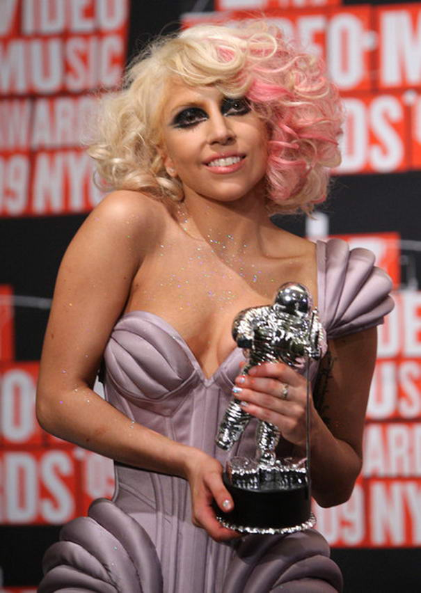 Lady Gaga Blonde and Pink
