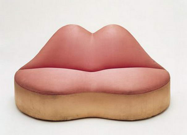 Bocca Lips Sofa by Salvador Dali