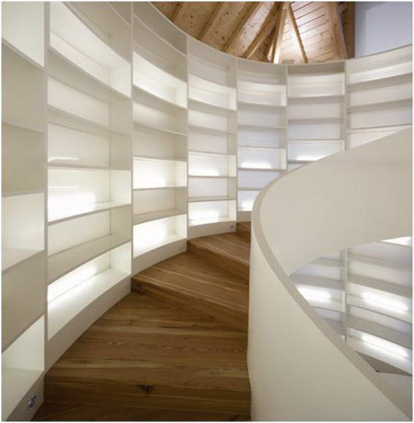 Bookshelf Staircase By Manuel Maia Gomes
