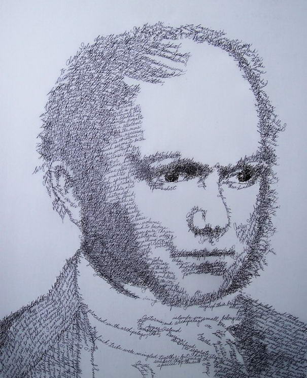 Charles Darwin as The Voyage of the Beagle Portraits