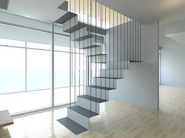Hanging Staircase by Ong & Ong