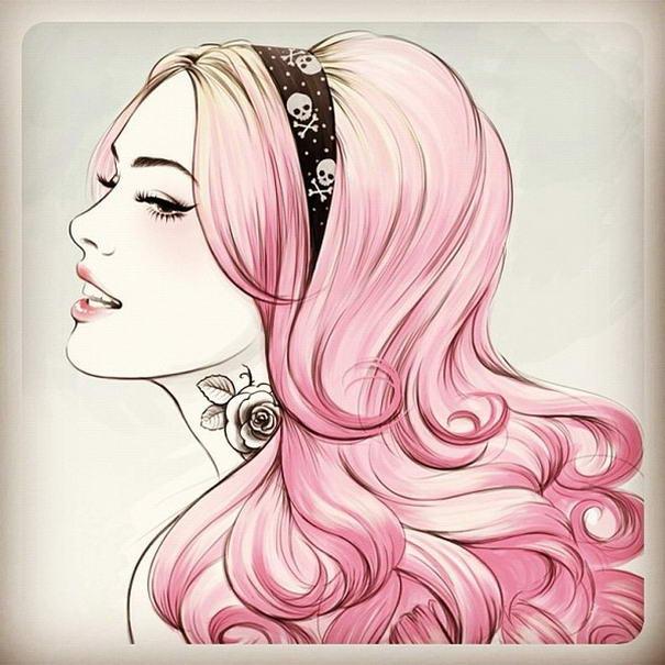 Pink Hairs