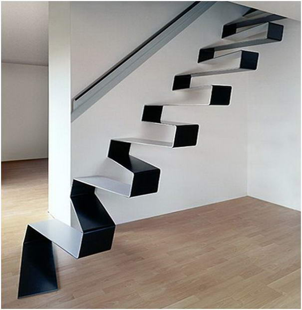 Ribbon Staircase designed by HSH architects