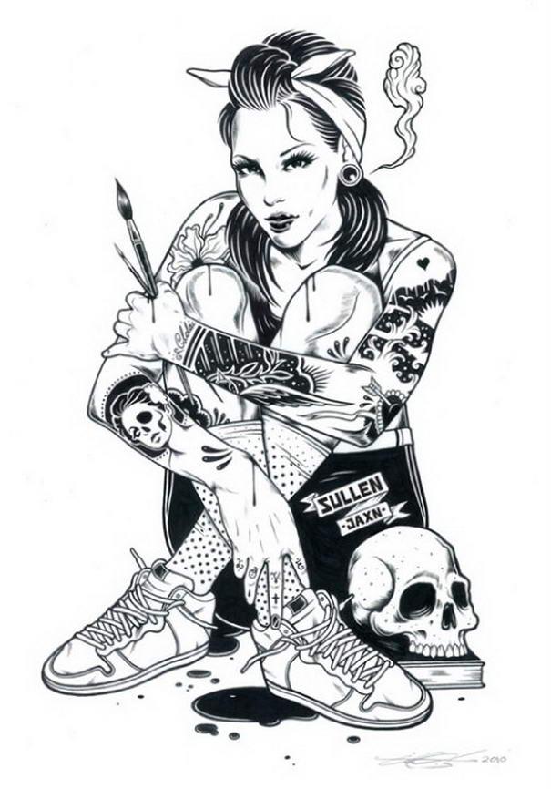 Tattoo Illustrations By Adam Isaac Jackson