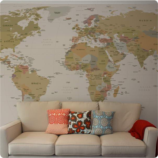 World Map Sticker Stylish Wall Stickers
