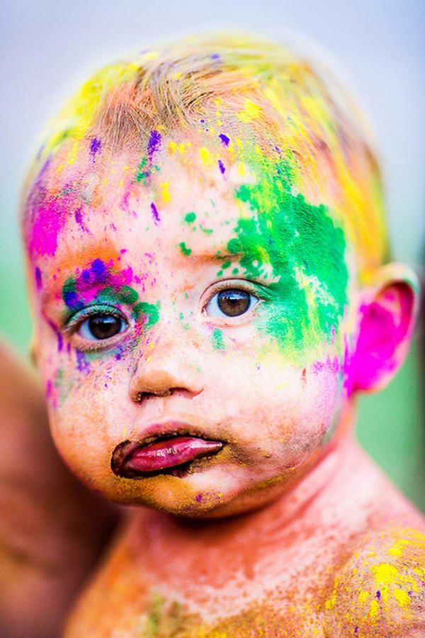 Holi Baby by Thomas Hawk