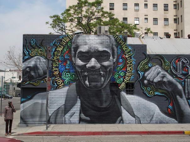 Skid Row (Blessed Are the Meek) Graffiti art
