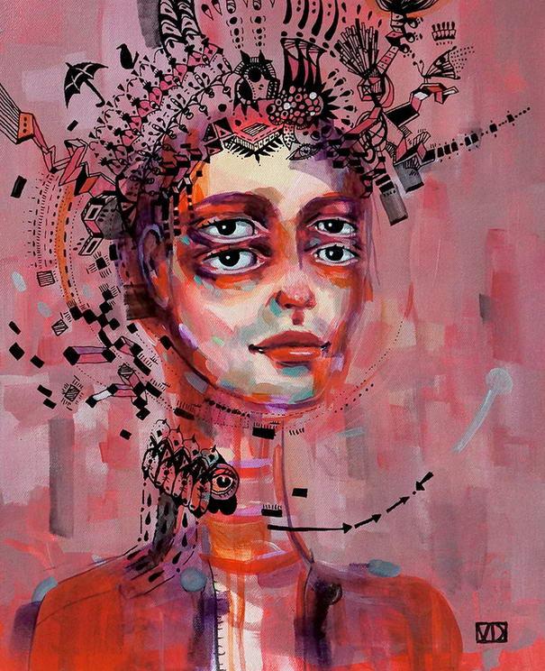 Look At Me 1 Oil Paintings