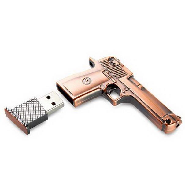 Metal Gun USB Flash Memory Drive