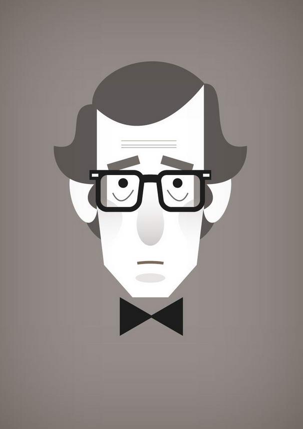 Woody Allen Illustration Portraits